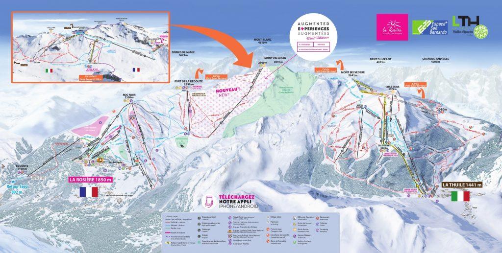 La Rosiere Piste Map 2019 - Ski Europe - winter ski ...